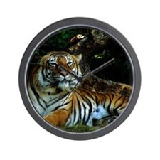 A Happy Indochinese Tiger Wall Clock