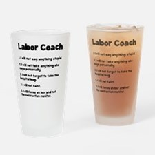 Labor Coach Black Drinking Glass