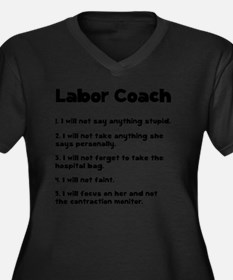 Labor Coach  Women's Plus Size Dark V-Neck T-Shirt