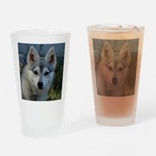 Alaskan Klee Kai Puppy Portrait Drinking Glass