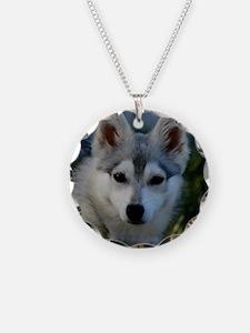 Alaskan Klee Kai Puppy Portr Necklace