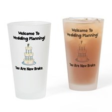 Wedding Broke Black Drinking Glass