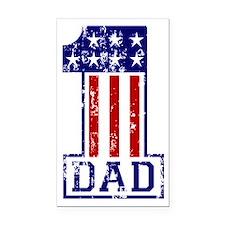 1 Dad USA B Rectangle Car Magnet