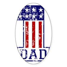 1 Dad USA B Decal
