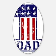 1 Dad USA B Decal