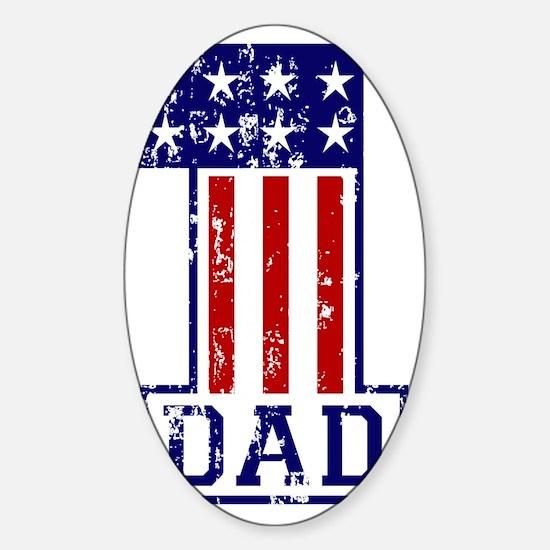 1 Dad USA B Sticker (Oval)