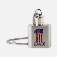 1 Dad USA W Flask Necklace