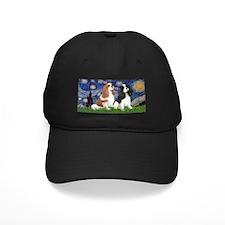 LIC-Starry-TwoCavaliers(BL+Tri) Baseball Hat