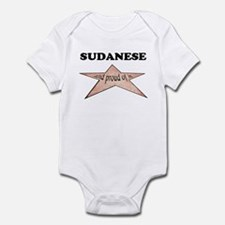 Sudanese and proud of it Infant Bodysuit