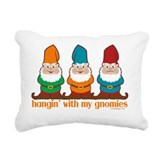 Hanging with my gnomies Rectangle Canvas Pillows