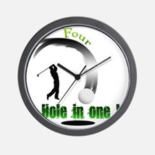 Four Hole in one Golf Wall Clock