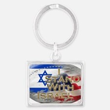 I stand with Israel Landscape Keychain