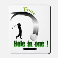 Four Hole in one Golf Mousepad