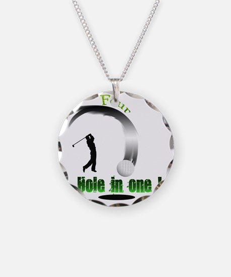 Four Hole in one Golf Necklace