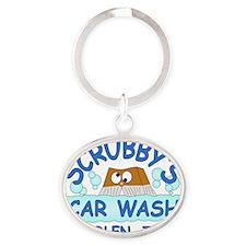 Scrubbys Car Wash Oval Keychain