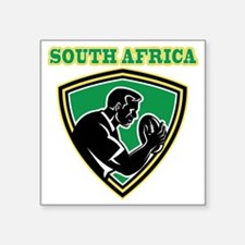 "Rugby player South Africa s Square Sticker 3"" x 3"""