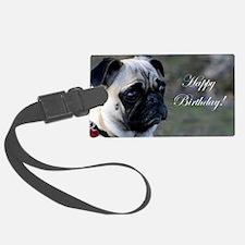 Birthday Pug Luggage Tag