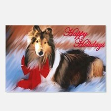 Happy Holidays Collie Postcards (Package of 8)