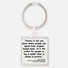 Ginsberg People Quote Square Keychain