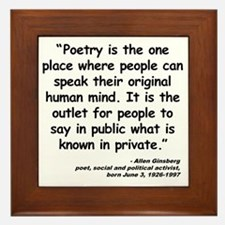 Ginsberg People Quote Framed Tile