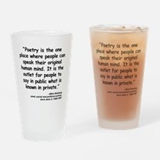 Ginsberg People Quote Drinking Glass