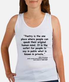 Ginsberg People Quote Women's Tank Top