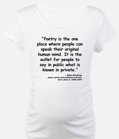 Ginsberg People Quote Shirt