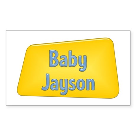 Baby Jayson Rectangle Sticker