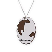 Ubermencshe300Black Necklace Oval Charm