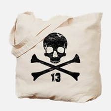 crossbones distressed black Tote Bag