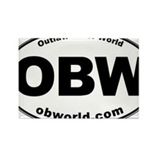 Outlaw Biker World Rectangle Magnet