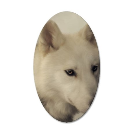 wolfs_soul 35x21 Oval Wall Decal