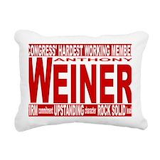 weiner red Rectangular Canvas Pillow