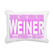 weiner pink Rectangular Canvas Pillow