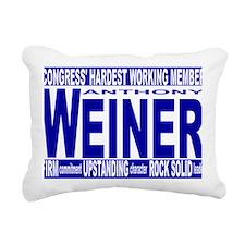 weiner blue Rectangular Canvas Pillow