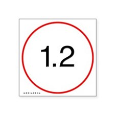 "L-lens-12-trans Square Sticker 3"" x 3"""