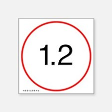 "L-lens-12-trans Square Sticker 3"" x 3"""