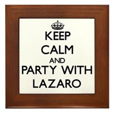 Keep Calm and Party with Lazaro Framed Tile