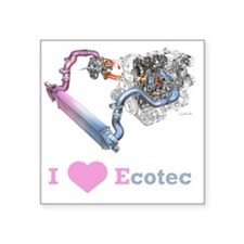 "EcotecTurbo Square Sticker 3"" x 3"""