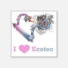 """EcotecTurbo Square Sticker 3"""" x 3"""""""