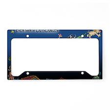8577_christmas_cartoon_wide License Plate Holder