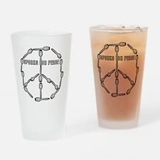 sporksforpeacewhite Drinking Glass
