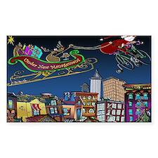 7829_Christmas_cartoon_wide Decal