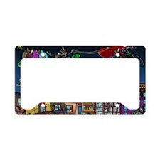 7829_Christmas_cartoon_wide License Plate Holder