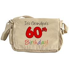 Its Grandpas 60th Birthday Messenger Bag