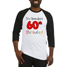 Its Grandpas 60th Birthday Baseball Jersey