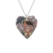 8575_africa_cartoon Necklace Heart Charm