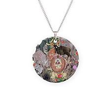 8575_africa_cartoon Necklace Circle Charm