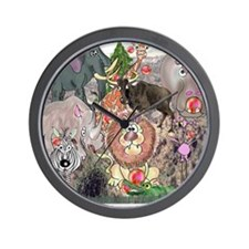 8575_africa_cartoon Wall Clock