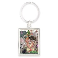 8575_africa_cartoon Portrait Keychain